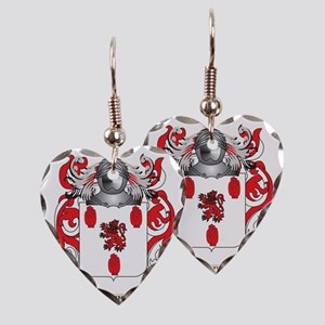 McGuigan Coat of Arms - Family Earring Heart Charm