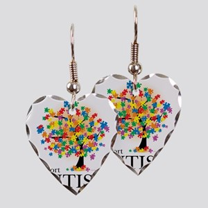 Autism-Tree Earring Heart Charm