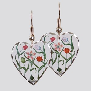 Vintage Tulips by Basilius Bes Earring Heart Charm