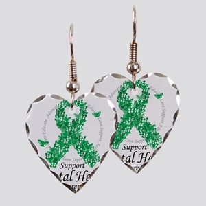 Mental-Health-Ribbon-of-Butter Earring Heart Charm