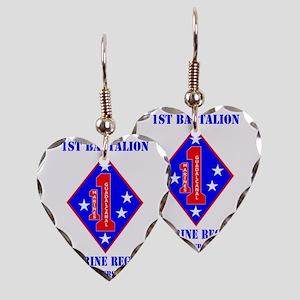 SSI-1ST MARINE RGT-HQ COY  WIT Earring Heart Charm