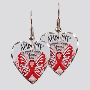 AIDS-HIV-Butterfly-3 Earring Heart Charm