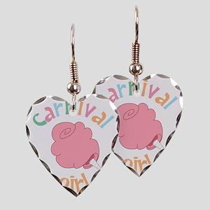 Carnival Girl Earring Heart Charm