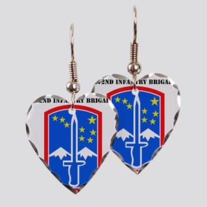SSI -172nd Infantry Brigade wi Earring Heart Charm