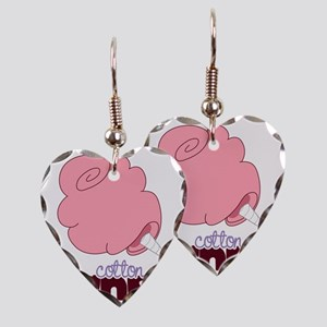 Cotton Candy Earring Heart Charm
