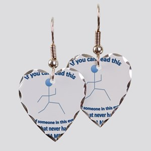 IfYouCanReadThis Womens T-Shir Earring Heart Charm