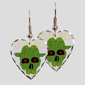 camo skull2 Earring Heart Charm