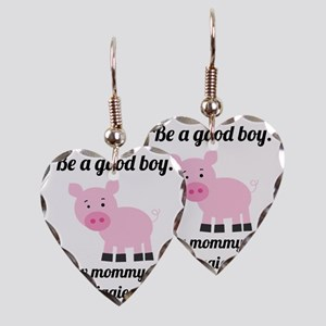 How the Piggies Eat Earring Heart Charm