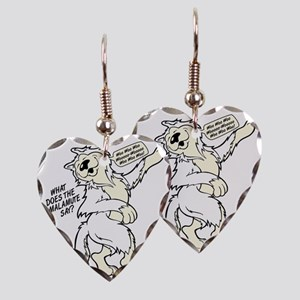 What Does the Malamute Say! Earring Heart Charm
