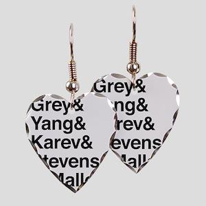 Grey, Yang, Karev, Stevens, Om Earring Heart Charm