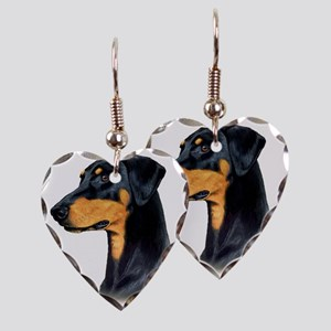Dobermann Earring Heart Charm