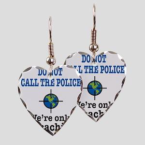 Geocach-white Earring Heart Charm