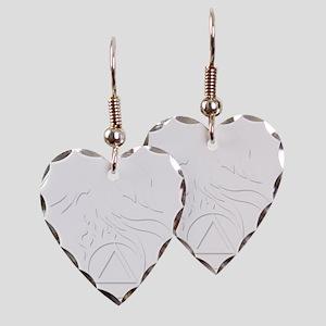 AA Phoenix White Earring Heart Charm