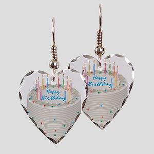 Happy Birthday Cake Earring Heart Charm