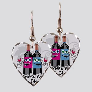 Drinks-Well-With-Others Earring Heart Charm