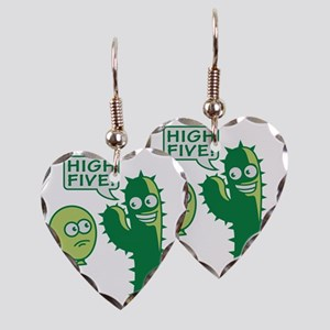 cactus_high_five Earring Heart Charm