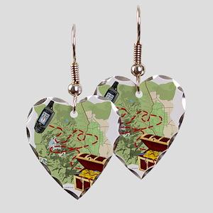 Geocache to Treasure Earring Heart Charm