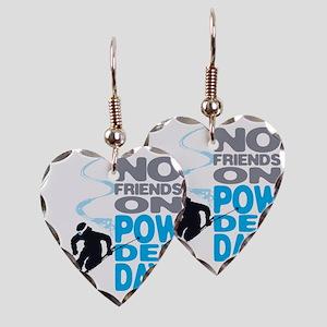 no friends Earring Heart Charm