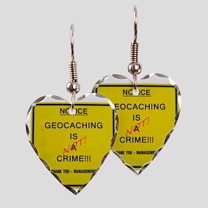 cache crime Earring Heart Charm