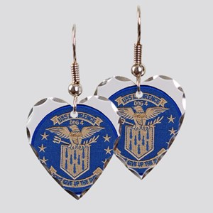 uss lawrence patch transparent Earring Heart Charm