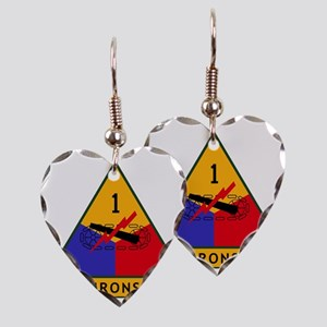 1st_US_Armored_Division_SSI Earring Heart Charm