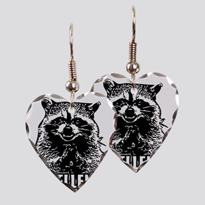 Excellent Raccoon Earring Heart Charm