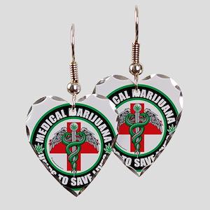 Medical-Marijuana-Helps-Saves- Earring Heart Charm