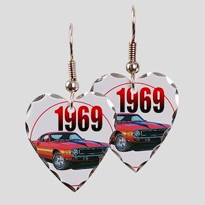 69GT500-C8trans Earring Heart Charm