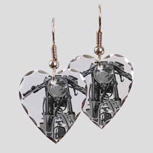 Bonnie Motorcycle Earring Heart Charm