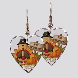 thanksgiving copy Earring Heart Charm