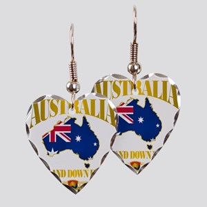 Land Down Under Earring Heart Charm