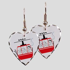 Gondola Ride Earring Heart Charm