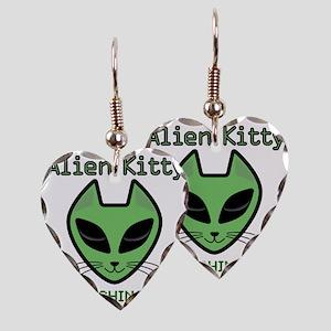 2-AlienKitty-IsWatching Earring Heart Charm