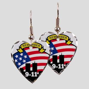 9-11 Earring Heart Charm