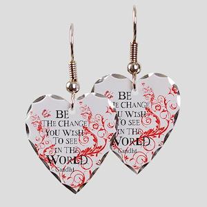Be the Change - Red Vine - Lig Earring Heart Charm