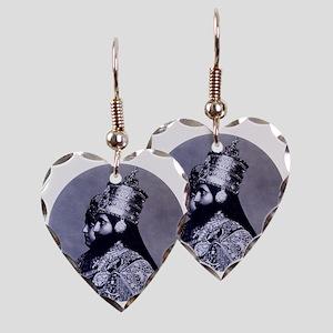 HaileSillassieandFirstLady Earring Heart Charm
