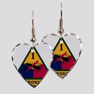 1st Armored Division Earring Heart Charm