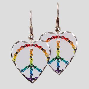 peace chain vivid Earring Heart Charm