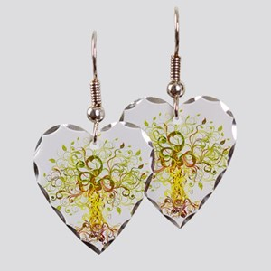 Tree Art Earring Heart Charm