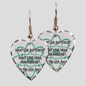 green, Buttercup Earring Heart Charm