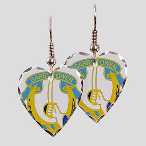 7TH CAV RGT Earring Heart Charm