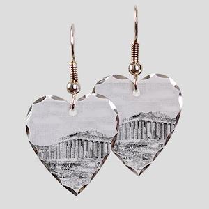 Parthenon Acropolis Athens Earring Heart Charm