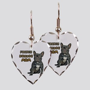 French Bulldog Mom Earring Heart Charm
