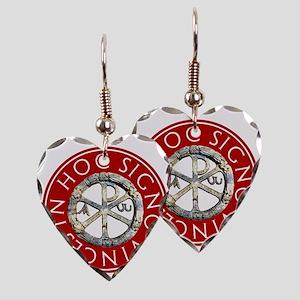 Chi-Rho Earring Heart Charm