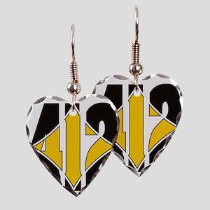 412 Black/Gold-W Earring Heart Charm