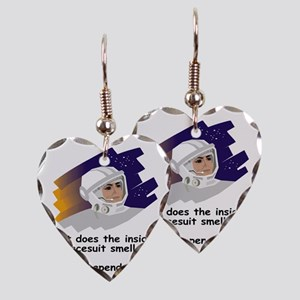 NASA-Spacesuit-Smells Earring Heart Charm