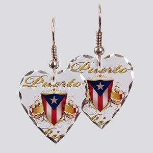 puerto rico Earring Heart Charm