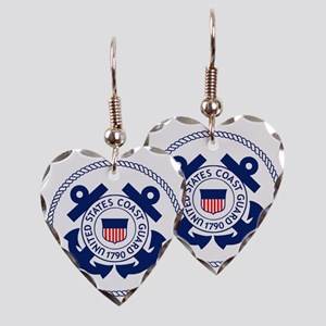 USCG-Logo-3-Enlisted-X Earring Heart Charm