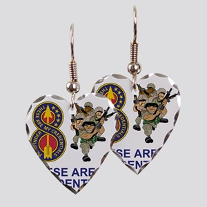 Army-8th-Infantry-Div-Humor-Cr Earring Heart Charm