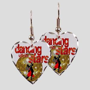 Dancing with the Stars Disco b Earring Heart Charm